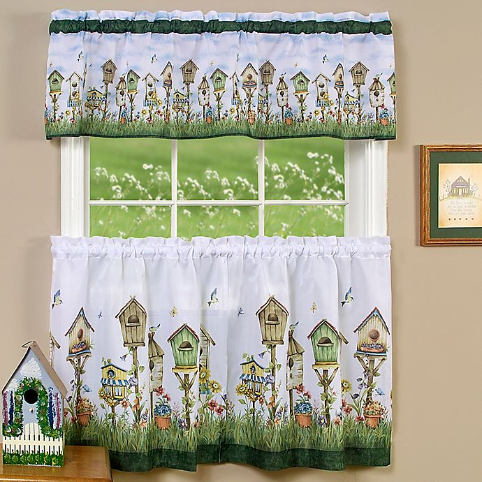 Achim Home Sweet Home Kitchen Window Curtain Tier Pair And