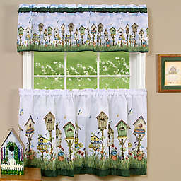 Achim Home Sweet Home Kitchen Window Curtain Tier Pair and Valance