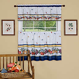 Achim Fruity Tiles Kitchen Window Curtain Tier Pair and Valance