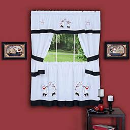 Achim Gourmet Kitchen Window Curtain Tier Pair and Valance