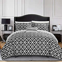 Chic Home Amare Reversible King Duvet Cover Set in Black