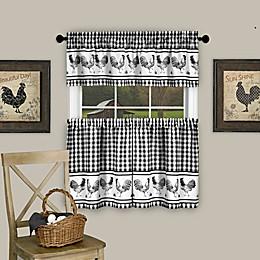 Achim Barnyard Kitchen Window Curtain Tier Pair and Valance