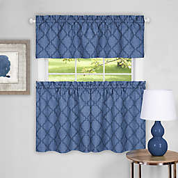 Achim Colby Kitchen Window Curtain Tier Pair and Valance