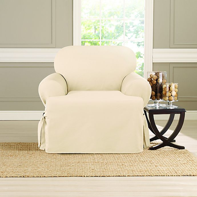 Alternate image 1 for Sure Fit® Heavyweight T Chair Cover