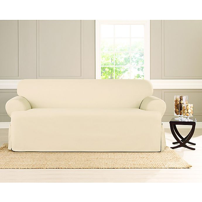 Alternate image 1 for Sure Fit® Heavyweight T Sofa Cover