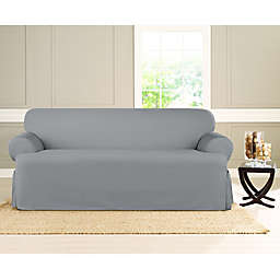 Sure Fit® Heavyweight T Sofa Cover in Pacific Blue