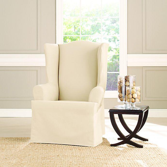 Stupendous Sure Fit Heavyweight T Wing Chair Cover Bed Bath Beyond Machost Co Dining Chair Design Ideas Machostcouk