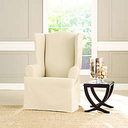 Sure Fit® Heavyweight T Wing Chair Cover