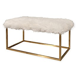 Abbyson Living® Richelle Ottoman in White