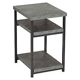 Household Essentials® Faux Concrete Slate Side Table in Grey
