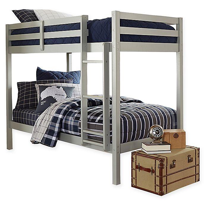 Alternate image 1 for Hillsdale Caspian Twin Bunk Bed in Grey