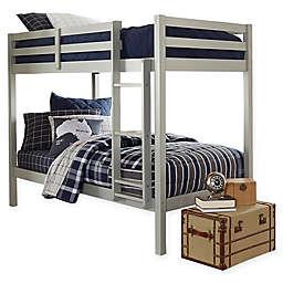 Hillsdale Caspian Twin Bunk Bed in Grey