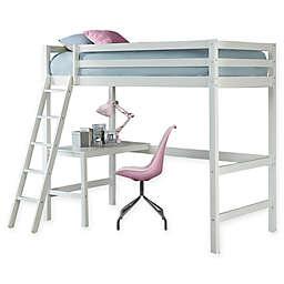 Hillsdale Caspian Twin Study Loft Bed in White