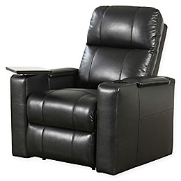 Abbyson Living® Cary Leather Theater Recliner in Black
