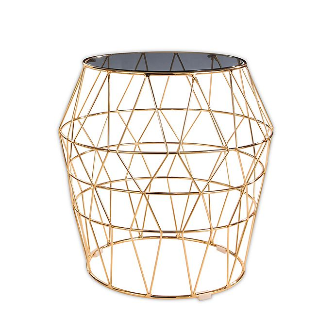 Alternate image 1 for Abbyson Living Victoria Stainless Steel and Glass End Table in Gold