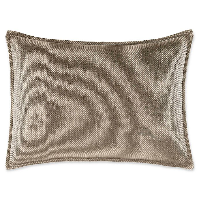 Alternate image 1 for Tommy Bahama® Raffia Palms 12-Inch x 16-Inch Oblong Throw Pillow in Husk