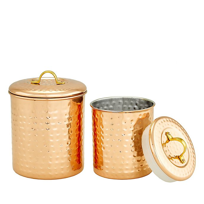 Alternate image 1 for Old Dutch International Hammered Kitchen Tool Caddy and Canister Collection in Copper
