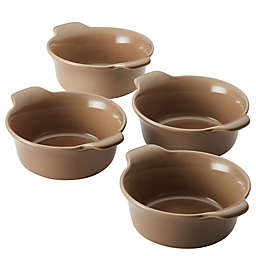 Anolon® Vesta™ 10 oz. Stoneware Ramekins in Umber (Set of 4)