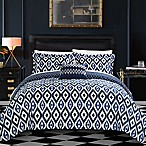 Chic Home Amare Reversible 8-Piece Queen Duvet Cover Set in Navy