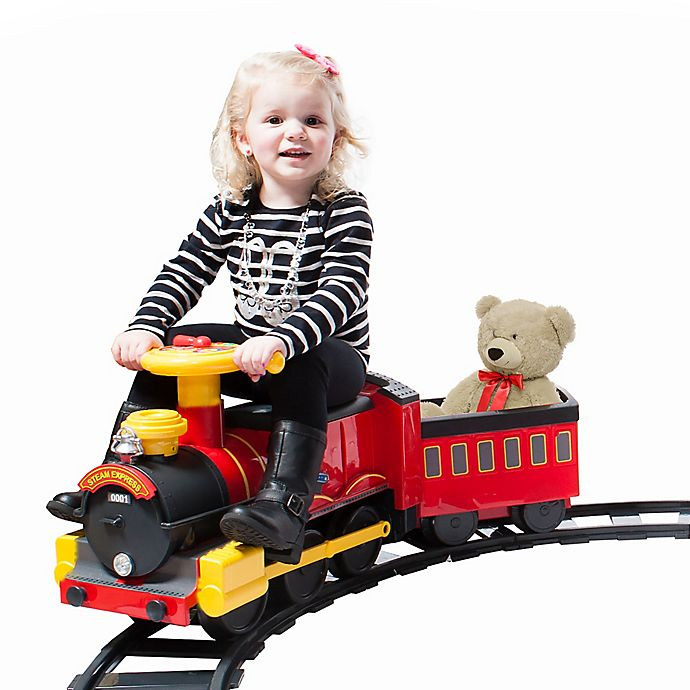 Alternate image 1 for Rollplay 6V Steam Train Ride-On Toy