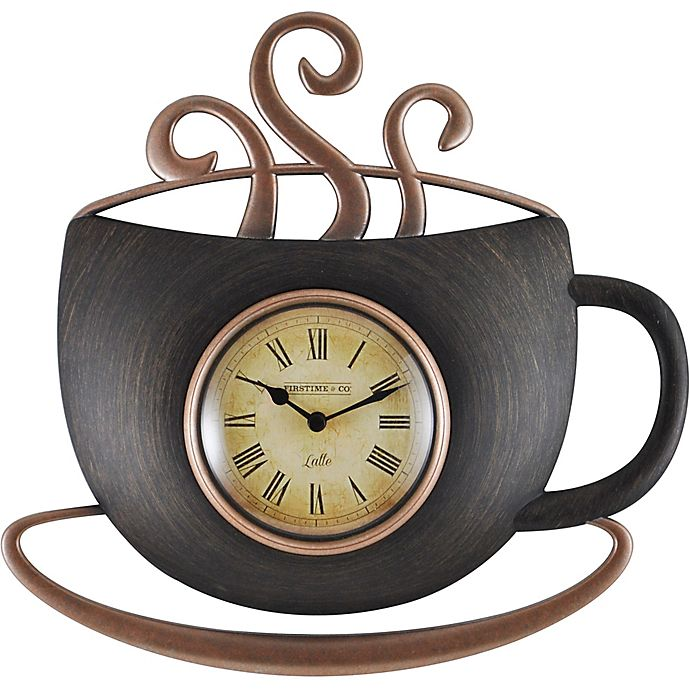 Firstime 174 Latte Cup Wall Clock In Bronze Bed Bath Amp Beyond