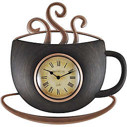 FirsTime® Latte Cup Wall Clock in Bronze