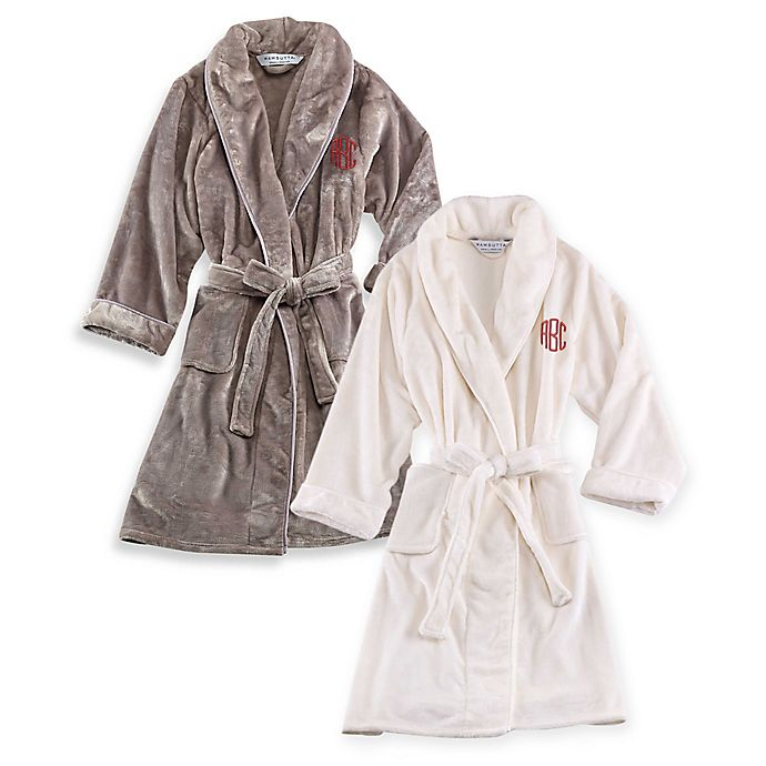 Alternate image 1 for Wamsutta® Personalized Plush Initial Robe