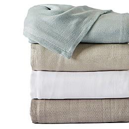 Great Bay Home Herringbone Blanket