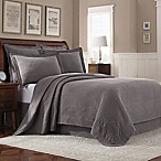 Williamsburg Abby Queen Coverlet in Grey