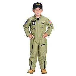 Jr. Armed Forces Pilot Suit with Helmet Child's Halloween Costume