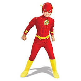 Flash Deluxe Muscle Chest Child's Halloween Costume in Red