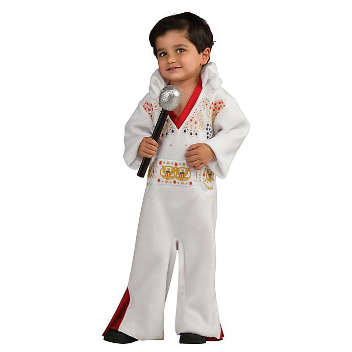Alternate image 1 for Elvis Romper 12M-2T Infant Halloween Costume in White