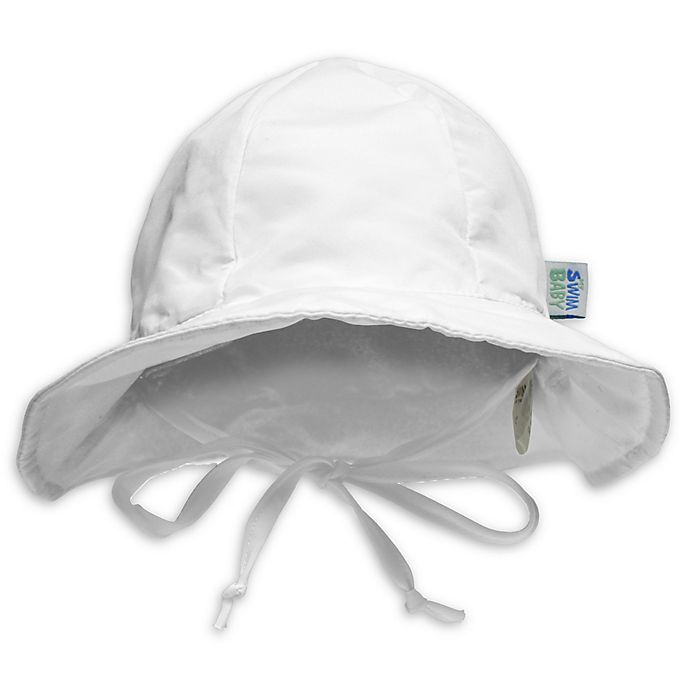 Alternate image 1 for My SwimBaby® Solid Sun Hat in White