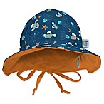 My SwimBaby® Size Medium Navy Sea Friends Sun Hat