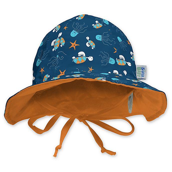 Alternate image 1 for My SwimBaby® Navy Sea Friends Sun Hat