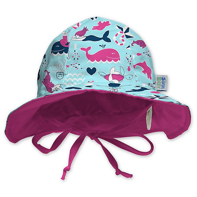 Alternate image 1 for My SwimBaby® Little Mermaids Sun Hat