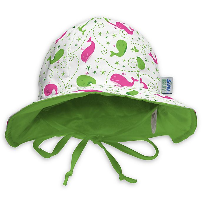 Alternate image 1 for My SwimBaby® Size Small Wilma the Whale Sun Hat