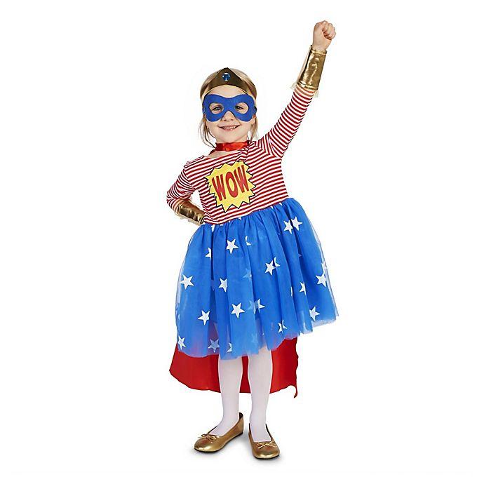 Alternate image 1 for Pop Art Comic Superhero Girl Size 4T Toddler Costume