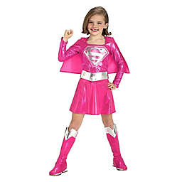 Pink Super Girl Medium Child's Halloween Costume