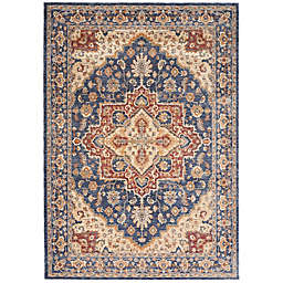 Nourison Reseda Machine Woven Area Rug in Blue