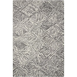 Nourison Interlock Hand Tufted Rug in Charcoal