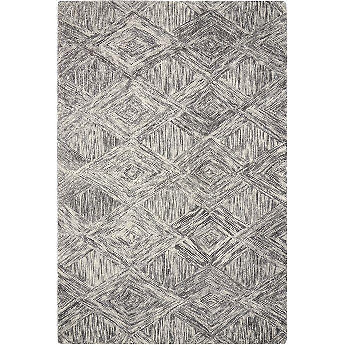 Alternate image 1 for Nourison Interlock Hand Tufted Rug in Charcoal