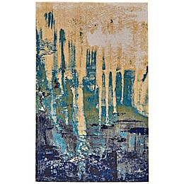 Feizy Potomac Rug in Green/Blue