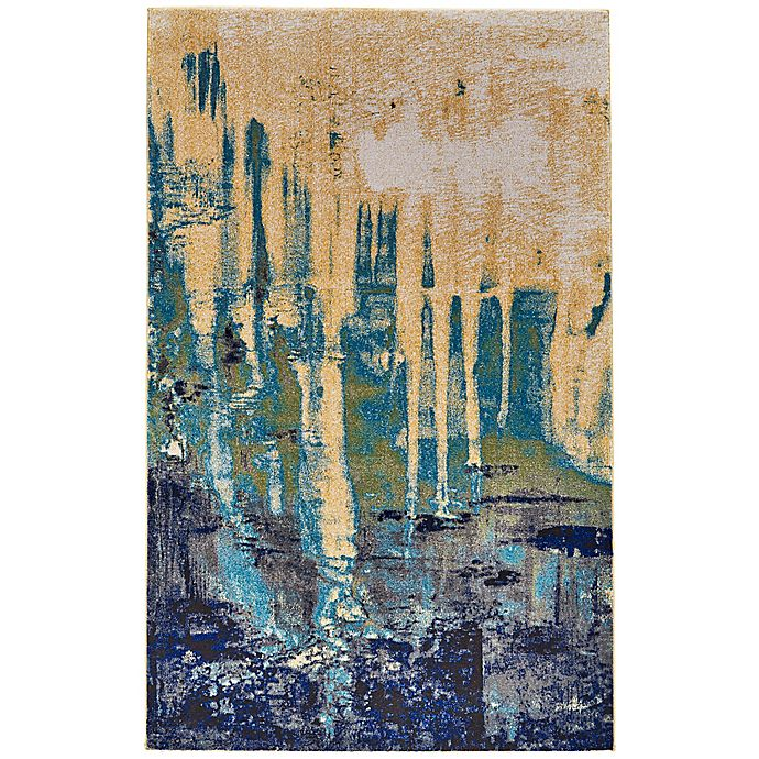 Alternate image 1 for Feizy Potomac 5-Foot x 8-Foot Area Rug in Green/Blue