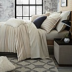 UGG® Lunar Stripe Cotton Flannel King Duvet Cover in Sesame