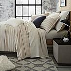 UGG® Lunar Stripe Cotton Flannel Full/Queen Duvet Cover in Sesame