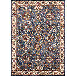 Nourison Reseda Medallion Area Rug in Blue