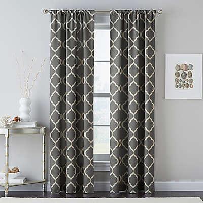 Casbah Trellis Rod Pocket Window Curtain Panel