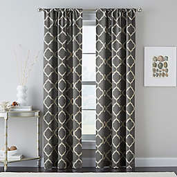 Casbah Trellis Rod Pocket Window Curtain Panel