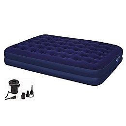 Achim Second Avenue Air Mattress with Pump in Blue
